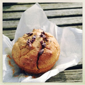 Chocolade pompoen muffin